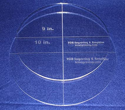 Amazon. Com: circle template 2 pc set. 9 inch, 10 inch 1/4 inch thick.