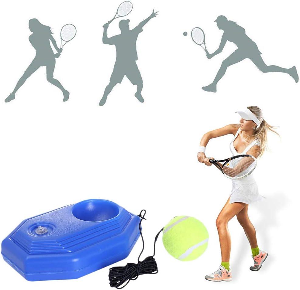 FFOMG Herramienta de Entrenamiento de Tenis Ejercicio Retractable Conveniente Pelota de Tenis Autoestudio Bola de Rebote Entrenador de Tenis, el Entrenamiento de Tenis se Hizo Mucho más fácil