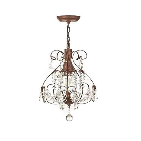 Vintage loft industriale vento ruggine lampadario di cristallo paese ...