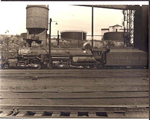 Norfolk & Western 2-8-8-2 steam locomotive at Roanoke VA photo 1950s