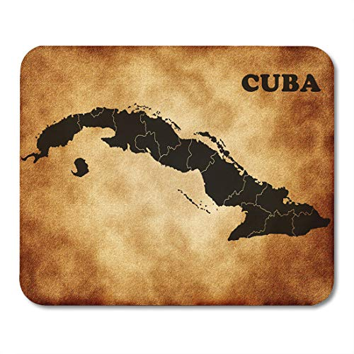Atlas Travel Case (Emvency Mouse Pads Havana Green Castro Map of Cuba Fidel Travel America Mouse Pad for notebooks, Desktop Computers mats 16