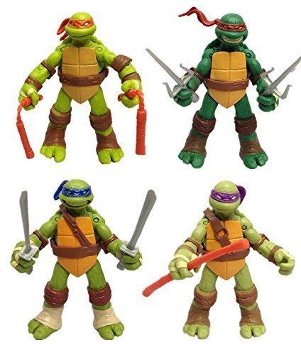 NEWEST! 4PCS Lot TMNT Teenage Mutant Ninja Turtles Action Figures Toy Set Xmas Gift(Without Original Box) Ninja Turtle Toys For Christmas