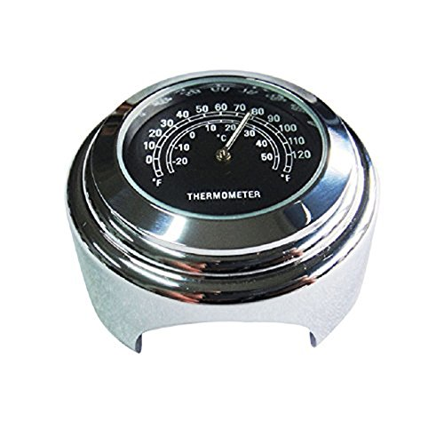 Wasserdichtes 7//8 Motorrad Lenker Fahrradhalterung Temperatur Thermometer YAMAHA Harley SODIAL R Schwarz
