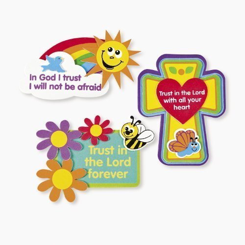 Cross Sand Art - Trust In The Lord Magnet Craft Kits (1 dz)