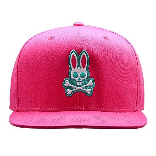 Neiman Cap Marcus - Psycho Bunny Unisex Adult Everyday Flat Brim Snapback Hat in Snapdragon Pink