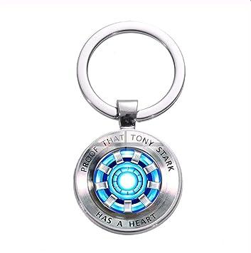 Nuevo Diseño Iron Man Heart Tony Stark Llavero Marvel The ...