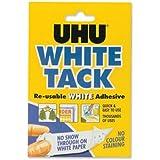 UHU 11592 - Masilla adhesiva reutilizable, blanco [Pack de 12]