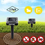 XMSTORE Solar Powered Mole Repellent, Waterproof Powerful Outdoor Sonic Pest Control for Getting