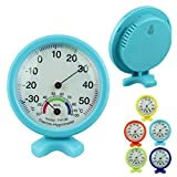 Voberry Round Accurate Temperature Humidity Meter Hygrometer Thermometer Indoor Outdoor (SkyBlue)