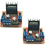 L298N Dual H Bridge Stepper Motor Driver Controller Board Module for Arduino UNO MEGA R3 Mega2560 Duemilanove Nano Robot(Pack of 2) by IFANCY-TECH