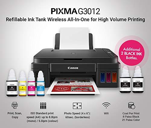 Canon Pixma G3012 All-in-One Wireless Ink Tank Colour Printer