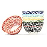 Dessert, Ice Cream, Fruit Bowls Set of 6 Assorted Colors, FAD Approved (4.5'' Bowls)