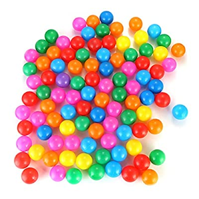 Yinuoday 100pcs Colorful Ocean Ball for Kids Children Soft Plastic Toddler Play Balls for Indoor & Outdoor: Toys & Games