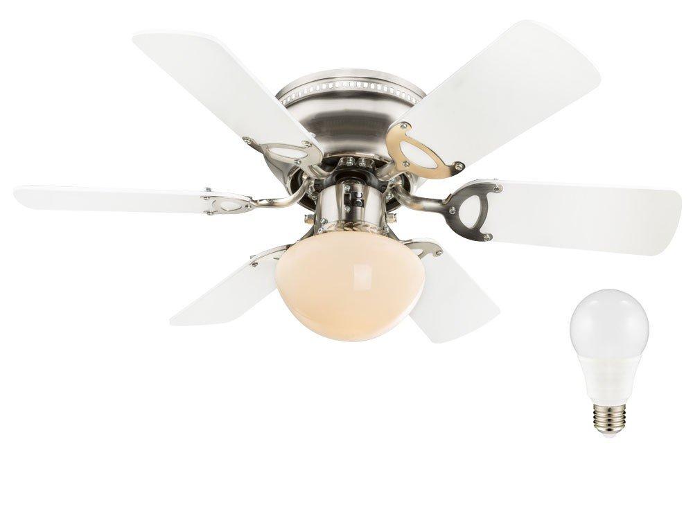 LED Luxus Decken Lampe 9,5 Watt Küchen Büro Ventilator Raum Kühler Leuchte EEK A+ [Energieklasse A+] etc-shop