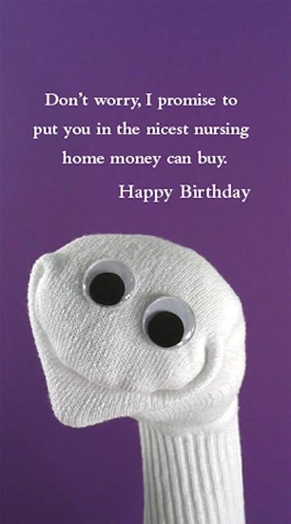 Amazon Quiplip Birthday Nursing Sock 6 Pack Greeting Cards