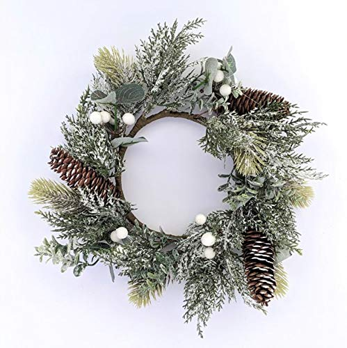 Foundations Décor, Winter Wreath, Seasonal Decoration for Front Door, Wall Hanging Window, and Wedding Party Decoration