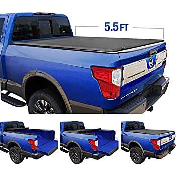 Tyger Auto T1 Roll Up Truck Tonneau Cover TG-BC1N9032 Works with 2004-2015 Nissan Titan | Fleetside 5.5' Bed | for Models with or Without The Utili-Track System