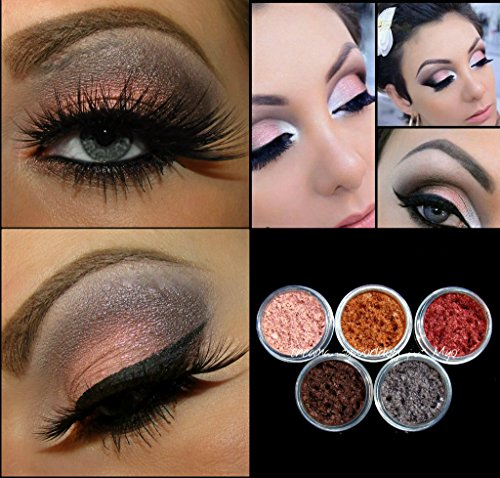 New Myo 3 Gram Set's Loose Eyeshadow Mica Pigment Powder Makeup Choose Your Set's. (Bare Metallic Set)