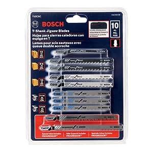 Bosch T10CSC 10 Piece Bosch Shank Jigsaw Blade Set With Pouch