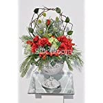 Beautifull-Red-Roses-Snowball-Fern-Foliage-Table-Vase-Display