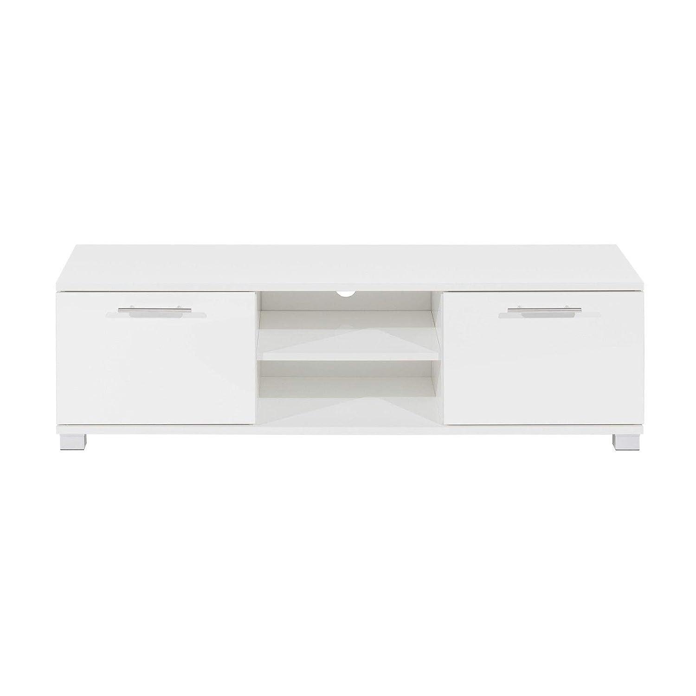32-55 para 32-55 Moderno Color Blanco para TV con Pantalla LCD LED, Mueble de TV de Alto Brillo con Cabina de TV Moderna de Color Blanco Mueble con Puerta Generic