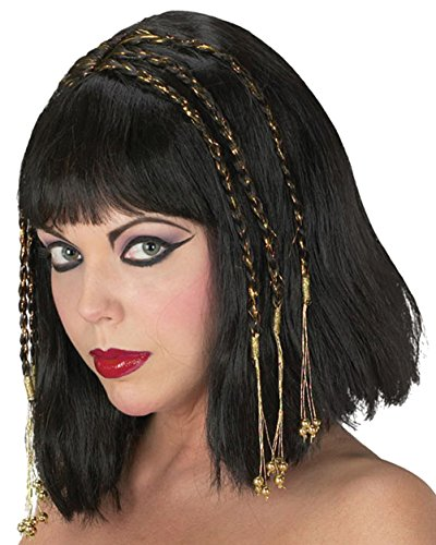 Egyptian Queen Wig Ancient Egypt Cleopatra Greek Roman (Ancient Greek Costumes For Sale)