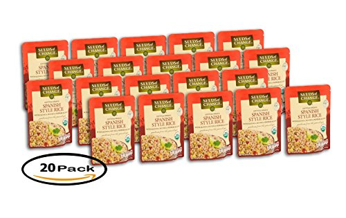 PACK OF 20 - Seeds of Change Spanish Style Rice with Quinoa, Red Bell Peppers & Corn, 8.5 OZ by Seeds Of Change