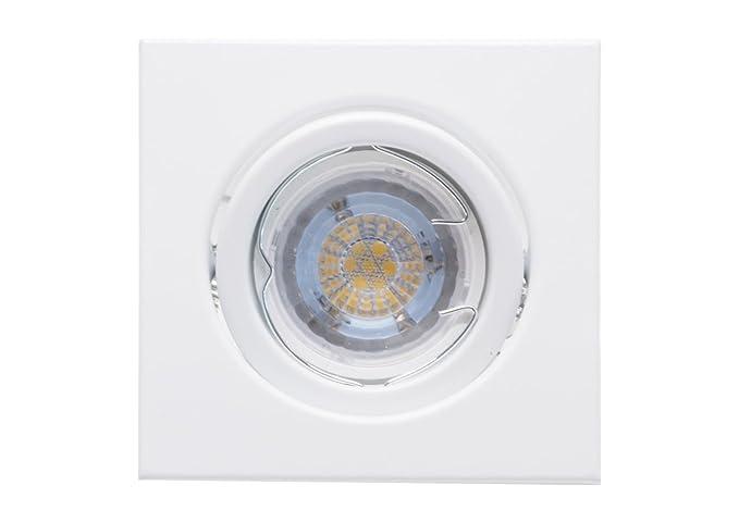 Plafoniera Incasso Led : Plafoniera led lampada da incasso luce bianca calda 5 watt