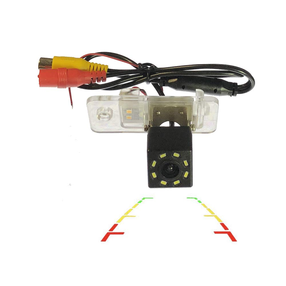 LEDs Car Rear View Camera for Audi A3 A4 S4 RS4 A6 C6 S6 RS6 A8 S8 Q7//Q7 DTI /& HD CCD Night Vision Waterproof and Shockproof Reversing Backup Camera 8 LED