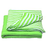 green sprouts Muslin Swaddle Blankets made from Organic Cotton,Green Set