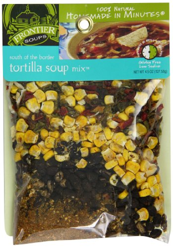 Frontier Soups Homemade In Minutes South Of The Border Tortilla Soup, 4.5-Ounce Bags (Pack of 4) - Organic Tortilla Soup