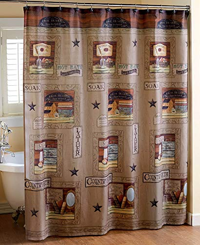 The Lakeside Collection Country Bath Shower Curtain -