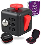 FabQuality Cube Anxiety Attention Toy With BONUS CASE + eBook Included - Relieves Stress And Anxiety And Relax for Children and Adults BONUS EBOOK is sent by email