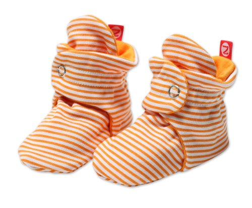 Zutano Baby Girls' Candy Stripe Bootie, Orange, 18 ()