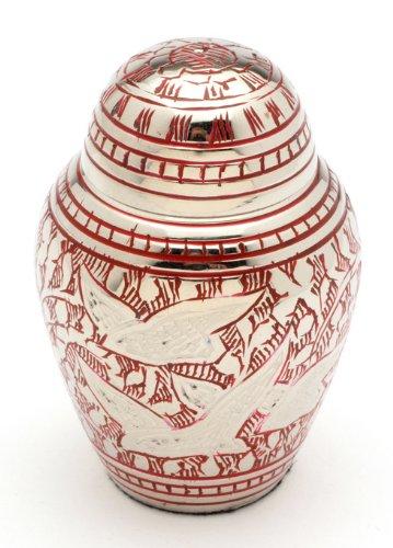 Urns UK Cremation Memorial Keepsake Urn Althorp Red 3  Keepsake