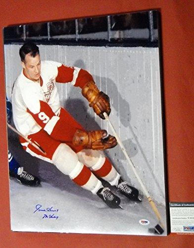 Gordie Howe Signed 16x20 Photo Detroit Red Wings PSA/DNA ...