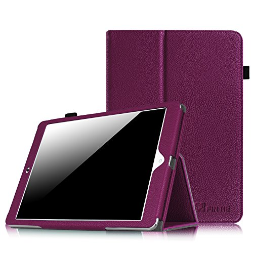 Dragon Touch E97 Folio Case - Fintie Premium Vegan Leather Cover with Stylus Holder for Dragon Touch E97 9.7-Inch Android Tablet PC, Purple (Tablet Pc Purple)