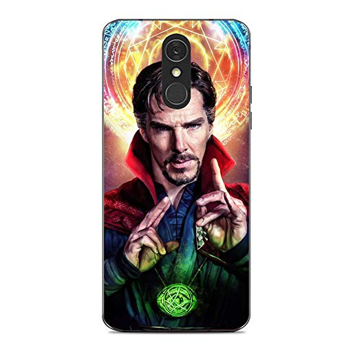 Q7 Case,Transparent Soft TPU Protective Cover for LG Q7-Doctor Strange 3