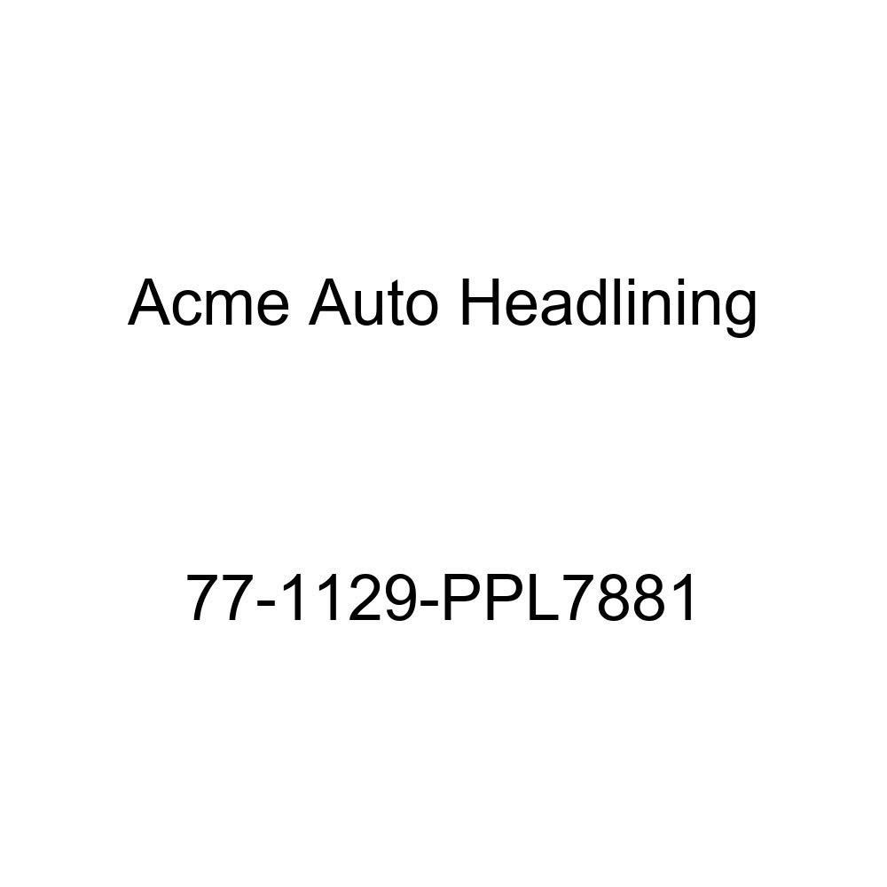 Acme Auto Headlining 77-1129-PPL7881 Carmine Replacement Headliner 1977 Buick Century 4 Door Wagon T-Hanger