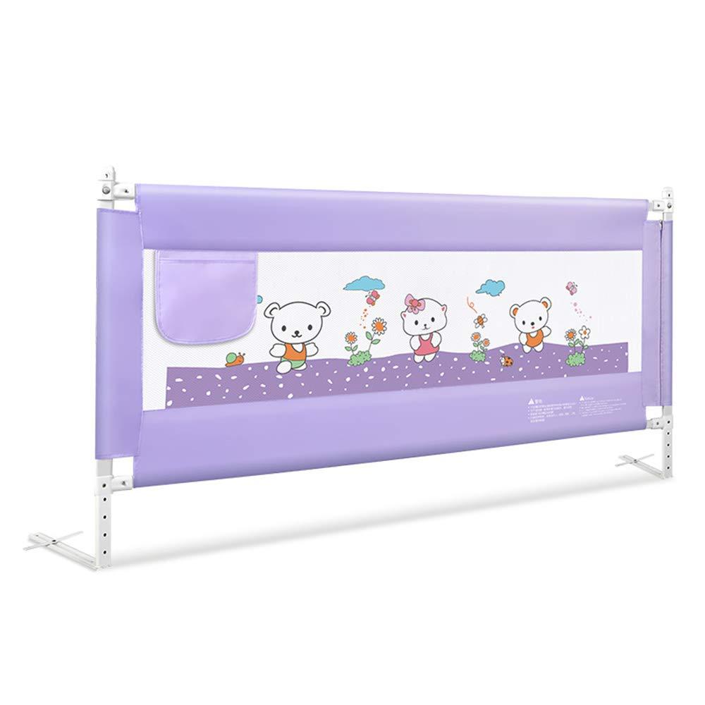CHUNLAN ベッドガードレール ポータブル折りたたみベッドレールフェンス保護安全ベビー子供 (色 : Purple, サイズ さいず : 200cm) 200cm Purple B07J3FL8CJ