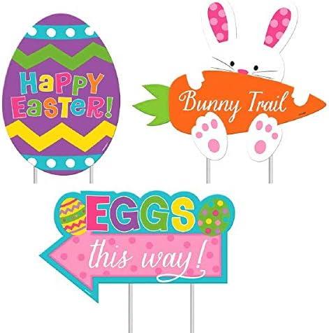 JF World Easter Sidewalk Signs 3ct
