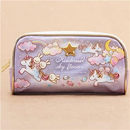 Lindo estuche lápices violeta blanco unicornio conejito sueño brillo de Japón: Amazon.es: Oficina y papelería