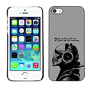 Be Good Phone Accessory // Dura Cáscara cubierta Protectora Caso Carcasa Funda de Protección para Apple Iphone 5 / 5S // Music In The Soul Message