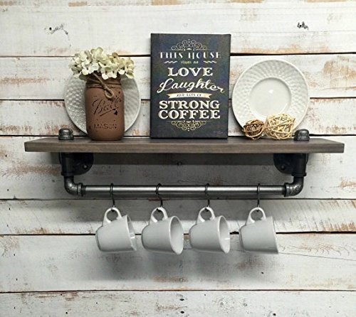 Perfect Industrial Kitchen Shelf, Rustic Kitchen Shelves, Black Iron Pipe, Wall  Hanging, Industrial