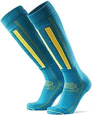 Merino Wool Alpine Ski Socks for Men & Women, Skiing, Snowboarding, Winter Sports, Knee-High, Warm, Breath