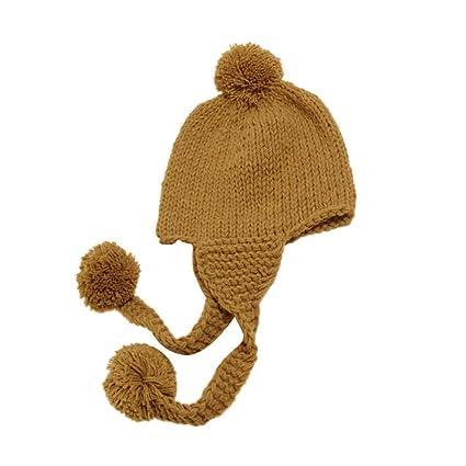 FENICAL 1pc Bambino Sveglio Cuffia del Bambino Cuffia per Bambini Ragazzi  Morbido Caldo Cappello di Inverno c748ec08dda4