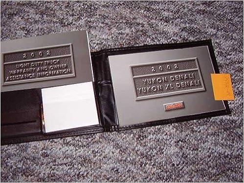2002 gmc yukon xl denali owners manual amazon books publicscrutiny Choice Image
