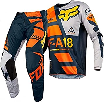 2018 Fox 180 SAYAK Motocross Gear Orange Adult 36