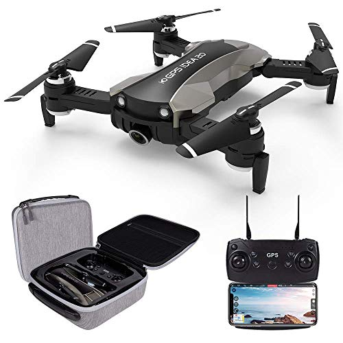 le-idea GPS Drones with Camera 4K for Adults, IDEA20 5G WiFi FPV Live Video with Adjustable Wide-Angle Camera and GPS Return Home Quadcopter, Follow Me Headless Mode RC Helicopter