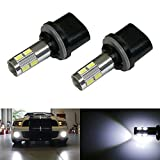 iJDMTOY® (2) 6500K HID Xenon White 10-SMD 880 881 886 889 890 891 LED Replacement Bulbs For Car Fog Lights Driving Lamps